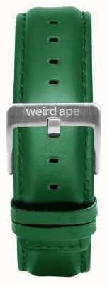 Weird Ape Smaragd lederen 20 mm riem zilveren gesp ST01-000110