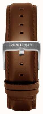 Weird Ape Eiken leren 20 mm riem zilveren gesp ST01-000099