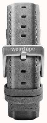 Weird Ape Slate grey suede 20mm riem zilveren gesp ST01-000016
