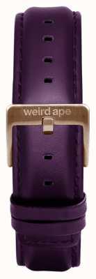 Weird Ape Aubergine lederen 16mm riem met chocolade gesp ST01-000068