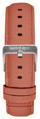 Weird Ape Rozenroze suède 16 mm riem zilveren gesp ST01-000052