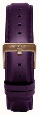 Weird Ape Purpleleather 16mm band rosé gouden gesp ST01-000036