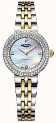Rotary Dames Kensington | tweekleurige roestvrij stalen armband | LB05371/41