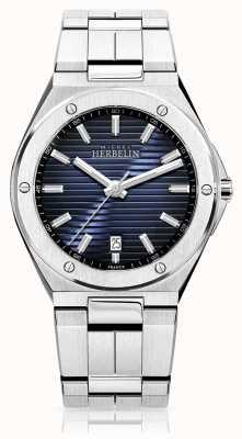 Michel Herbelin Herenhorloge van roestvrij staal met blauwe wijzerplaat 12245/B15