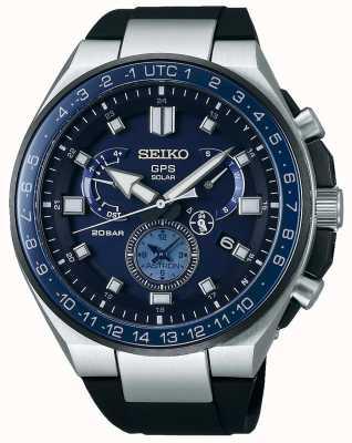 Seiko Heren gps astron solar horloge blauwe wijzerplaat SSE167J1