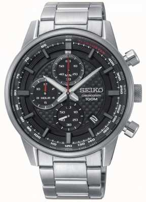 Seiko Heren urban sport chronograaf roestvrij stalen armband SSB313P1