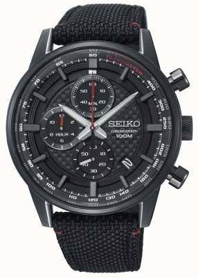 Seiko Heren urban sport chronograaf nylon band SSB315P1
