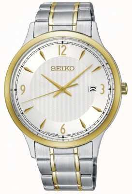 Seiko Klassieke wijzerplaat tweekleurig horloge herenhorloge SGEH82P1
