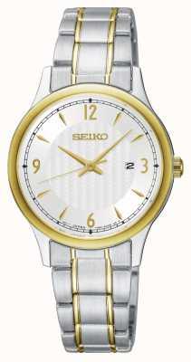 Seiko Klassieke wijzerplaat tweekleurig horloge dameshorloge SXDG94P1