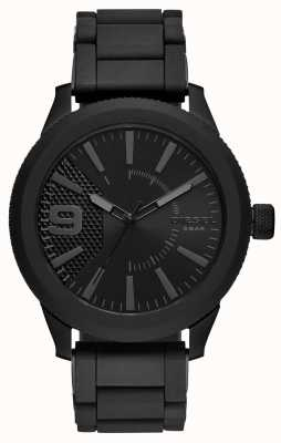 Diesel Mens all black rasp watch metalen armband DZ1873