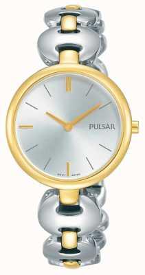 Pulsar Womens tweekleurige zilveren gouden armband horloge PM2264X1