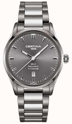 Certina Heren ds-2 precidrive grijs titanium stalen horloge C0244104408120