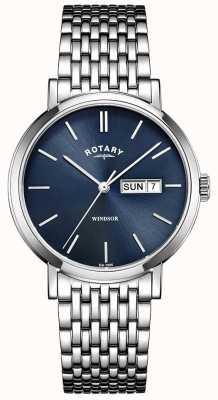 Rotary Heren two tone zilveren en gouden horloge GB05301/09
