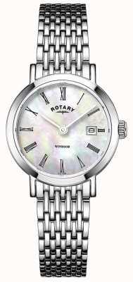 Rotary Dames armbandhorloge van roestvrij staal LB05300/39