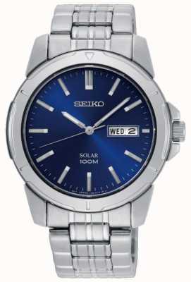 Seiko Herenhorloge met wijzerplaat, roestvrij staal, blauwe wijzerplaat SNE501P1