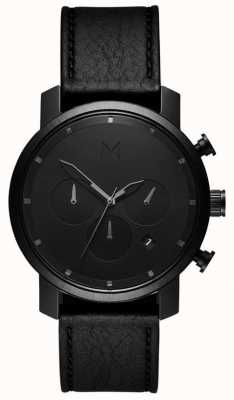 MVMT Heren chrono 40 mm zwart leer MC02-BLBL