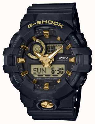 Casio G-shock analoge digitale rubber gouden horloge GA-710B-1A9ER