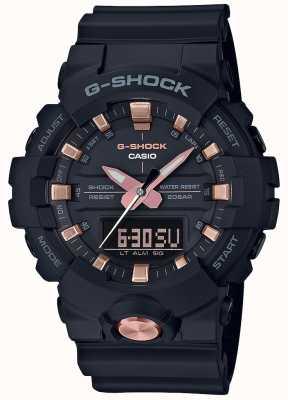 Casio G-shock analoog digitaal multifunctioneel mat zwart rose goud GA-810B-1A4ER