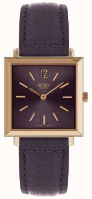 Henry London Paarse dameshorloge van Heritage dames HL26-QS-0260