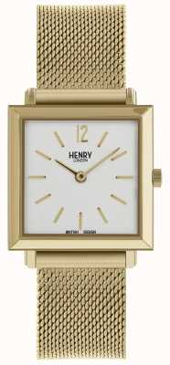 Henry London Het elegante vierkante horlogegaas van de erfenisvrouwen HL26-QM-0266