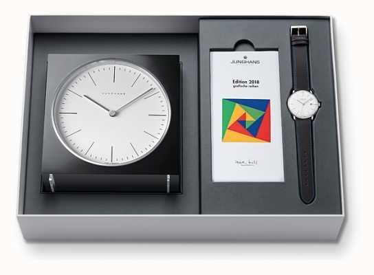 Junghans Max. Klok en horloge set limited edition 2018 363/2816.00