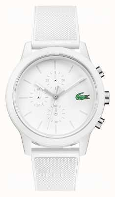 Lacoste 12.12 witte chronograaf siliconen band 2010974