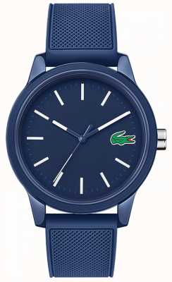 Lacoste 12.12 blauwe rubberen band 2010987