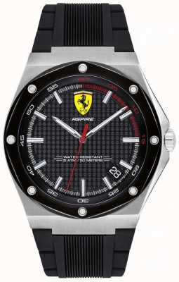 Scuderia Ferrari Datumweergave van de heren aspirire zwarte rubberen band 0830529