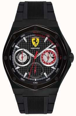 Scuderia Ferrari De zwarte datumdisplay van de zwarte cd-hoes van de mens ambieert zwart 0830538