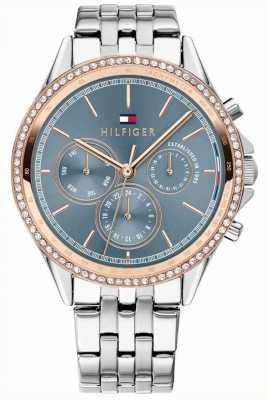 Tommy Hilfiger Ari | roestvrijstalen armband | kristallen set | grijze wijzerplaat 1781976