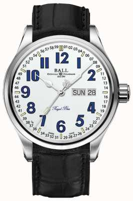 Ball Watch Company Trainmaster koningsblauw witte wijzerplaat datum & dag weergave NM1058D-LL9J-WH