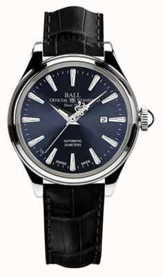 Ball Watch Company Trainmaster eternity dames blauwe wijzerplaat zwarte alligator band NL2080D-LJ-BE
