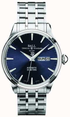 Ball Watch Company Trainmaster eternity blue dial automatische dag- en datumaanduiding NM2080D-SJ-BE