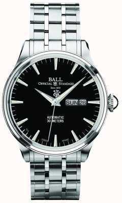 Ball Watch Company Trainmaster eternity black dial automatische dag en datum weergave NM2080D-SJ-BK
