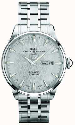 Ball Watch Company Trainmaster eternity silver dial automatische dagaanduiding NM2080D-S1J-SL