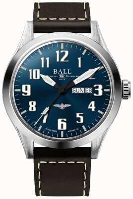 Ball Watch Company Engineer iii zilveren ster blauwe wijzerplaat dag & datum weergave NM2180C-L2J-BE
