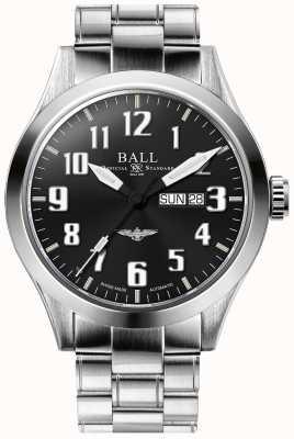 Ball Watch Company Engineer iii zilveren ster zwarte wijzerplaat dag & datum weergave NM2180C-S2J-BK