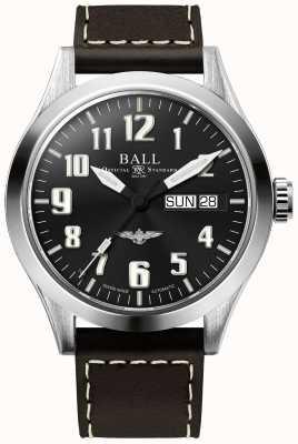 Ball Watch Company Engineer iii zilveren ster bruine lederen band blauwe wijzerplaat NM2182C-L3J-BE