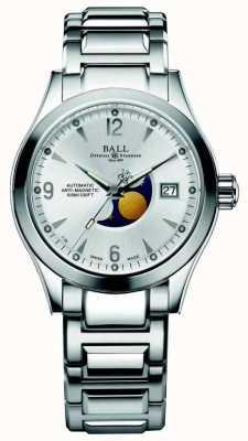 Ball Watch Company Weergave van de wijzerplaat van de de maanfase automatische zilveren van Ohio NM2082C-SJ-SL