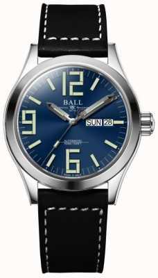 Ball Watch Company Engineer ii genesis blauwe wijzerplaat bruine lederen band dag & datum NM2026C-LBK7-BE