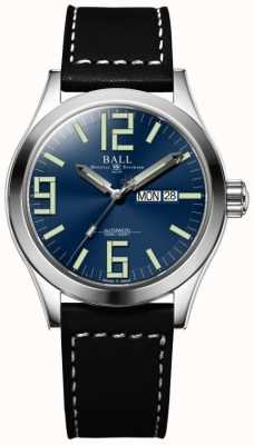 Ball Watch Company Engineer ii genesis blue dial zwart lederen band dag & datum NM2028C-LBK7-BE