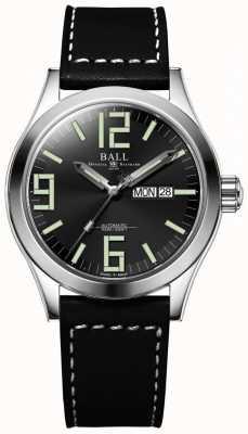 Ball Watch Company Engineer ii genesis zwarte wijzerplaat lederen band dag & datum NM2028C-LBK7J-BK