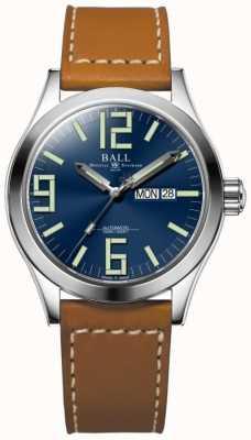 Ball Watch Company Engineer ii genesis blue dial tan lederen band dag & datum NM2028C-LBR7-BE