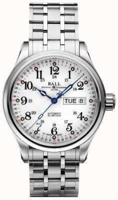 Ball Watch Company Bedrijf 60 seconden witte wijzerplaat dag & datum weergave NM1058D-S3J-WH