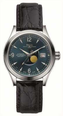 Ball Watch Company Ohio maanfase automatische datumweergave lederen band NM2082C-LJ-BE