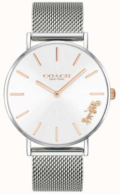 Coach Dames perry zilver mesh armband horloge 14503124