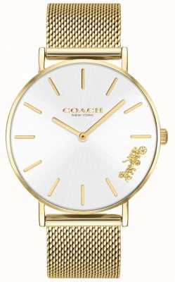 Coach Dames perry gouden mesh armband horloge 14503125