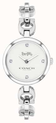 Coach Womens signature ketting roestvrij stalen horloge 14503077