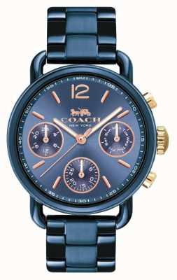 Coach Womens delancy sport horloge blauw 14502842