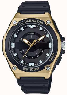 Casio Horlogeshorloge heren zwart en goud MWC-100H-9AVEF